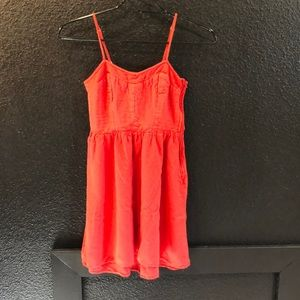 Gorgeous red/orange dress!